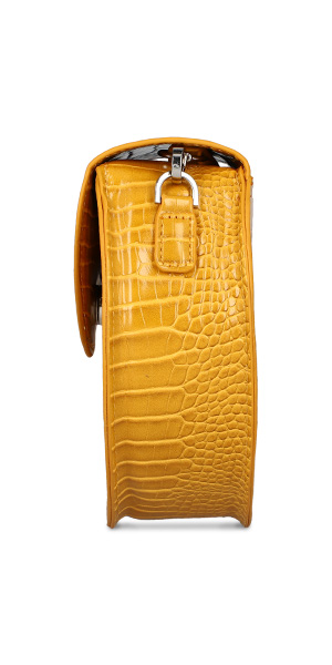 mini yellow bag side fashion product photography
